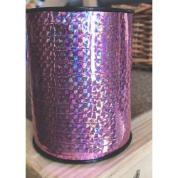 7mm Curling Ribbon 250 Yrds Holographic Pink