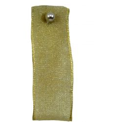 Honey Gold Sheer Ribbons | Organza Ribbons 70mm x 25m By Berisfords Ribbons col: 0678