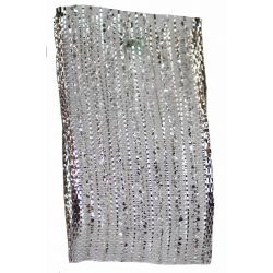 Silver Tinsel Mesh Ribbon 25mm x20m