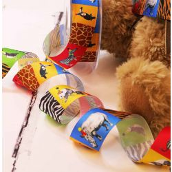 Animal Party Ribbon By Berisfords Ribbons 25mm
