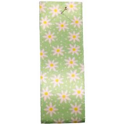 Daisy Chain Ribbon in Apple Green by Berisford Ribbons 25mm x 20m