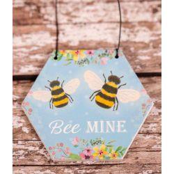 Bee Mine Hexagonal Small Plaque