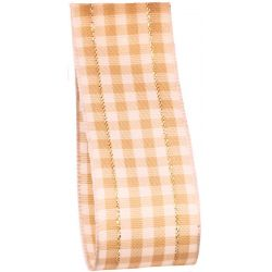 beige gingham ribbon