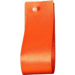 Double Satin Ribbon By Berisfords Ribbons: Orange Delight (Col 42) - 3mm - 70mm widths