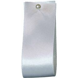 Newlife Double Satin Ribbon 100% Recycled Plastic: White (Col 1) - 3mm - 70mm widths