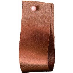 Double Satin Ribbon By Berisfords Ribbons: Dark Brown (Col 25)- 3mm - 70mm widths