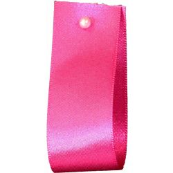 Double Satin Ribbon By Berisfords Ribbons: Fuchsia (Col 402) - 3mm - 70mm widths