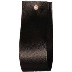 Double Satin Ribbon By Berisfords Ribbons Black (Col 10) - 3mm - 70mm widths