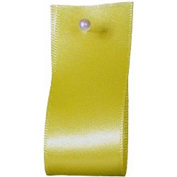 Double Satin Ribbon By Berisfords Ribbons: Lemon (Col 5)- 3mm - 70mm widths