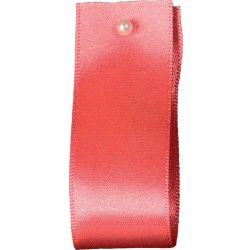 Double Satin Ribbon By Berisfords Ribbons: Coral (Col 22) - 3mm - 70mm widths