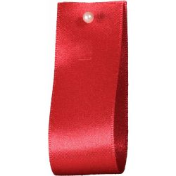 Double Satin Ribbon By Berisfords Ribbons: Poppy Red (Col 21) - 3mm - 70mm widths