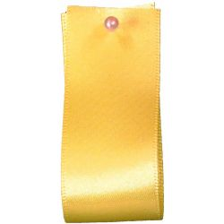 Double Satin Ribbon By Berisfords Ribbons: Yellow  (Col 679)- 3mm - 70mm widths