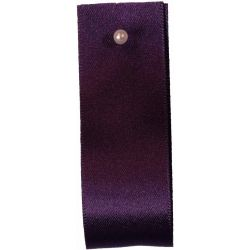 Double Satin Ribbon By Berisfords Ribbons: Blackberry (Col 6841) - 3mm - 70mm widths