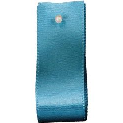 Double Satin Ribbon By Berisfords Ribbons: Malibu Blue (Col 673) - 3mm - 70mm widths