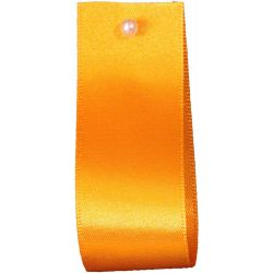 Double Satin Ribbon By Berisfords Ribbons: Marigold (Col 672)- 3mm - 70mm widths