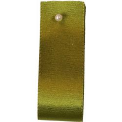 Double Satin Ribbon By Berisfords Ribbons: Moss (Col 79) - 3mm - 70mm widths