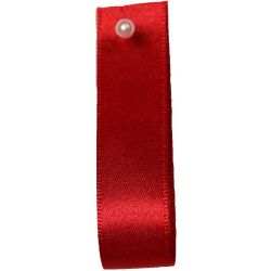 Double Satin Ribbon By Berisfords Ribbons: Red (Col 15) - 3mm - 70mm widths