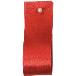 Double Satin Ribbon By Berisfords Ribbons: Russet (Col 489) - 3mm - 70mm widths