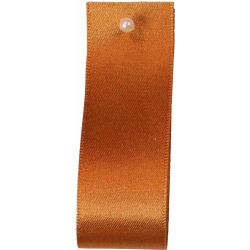 Double Satin Ribbon By Berisfords Ribbons: Rust (Col 55) - 3mm - 70mm widths