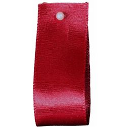 Double Satin Ribbon By Berisfords Ribbons: Scarlet Berry (Col 908) - 3mm - 70mm widths