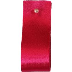 Double Satin Ribbon By Berisfords Ribbons: Shocking Pink (Col 72) - 3mm - 70mm widths