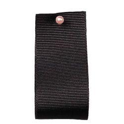 Grosgrain Ribbon Colour: BLACK 9725 - widths 6mm-10mm-16mm-25mm- 40mm