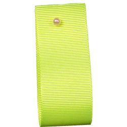 Grosgrain Ribbon Colour: FLUORESCENT YELLOW 6846- widths 6mm-10mm-16mm-25mm-40mm
