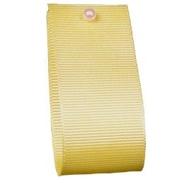 Grosgrain Ribbon Colour: LEMON 9011- widths 6mm-10mm-16mm-25mm-40mm