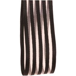 Black Striped Ribbon