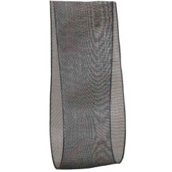 25mm Black Sheer Ribbon