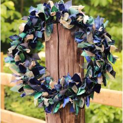 Black Watch Luxury Ribbon Wreath Kit