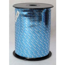 7mm Blue Curling Ribbon With Silver Stripes x 250yrds