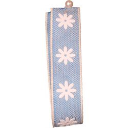 Blue 15mm Daisy Print Ribbon