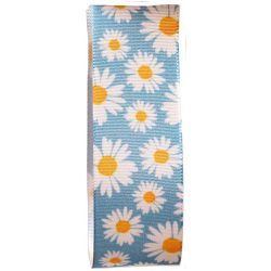 Blue Daisy Ribbon 25mm