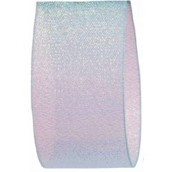 Candy Shimmer Ribbon in Ice Blue - 38mm x 10m
