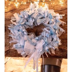 Blue themed wreath kit