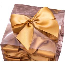 gold 38mm satin bows with double sided sticky pad