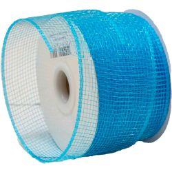 Bright Blue Deco Mesh Ribbon