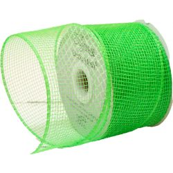Bright Green Deco Mesh Ribbon