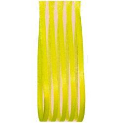 Bright Green Satin and Sheer Ribbon