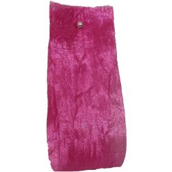 Crushed Silk Style Ribbon 38mm x 20m Col: Fuchsia