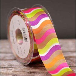 Swirl Ribbon Multi Coloured 40mm