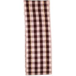 Brown Gingham Ribbon