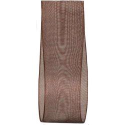 25mm Brown sheer ribbon