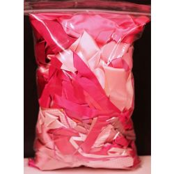 Mixed Bag Of Pink Dye House Waste Ribbon 250grm