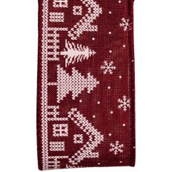 Christmas Ribbon With Nordic House Design