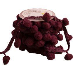 Burgundy Bobble Ribbon 20mm x 5m