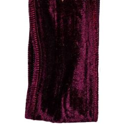 Wired Edged Crushed Velvet Ribbon 50mm x 10m In Burgundy