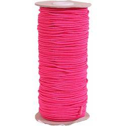 Cerise 3mm round cord elastic