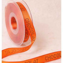 Chocolat Themed Ribbon In Bright Orange